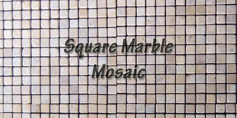 menu square marble mosaic