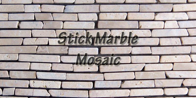 menu stick marble mosaic